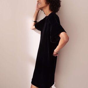 LOU&GREY Velvet Tee Dress w/Pockets